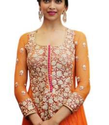 Deepika Padukone Orange Anarkali Suit At Promotes Ramleela ...