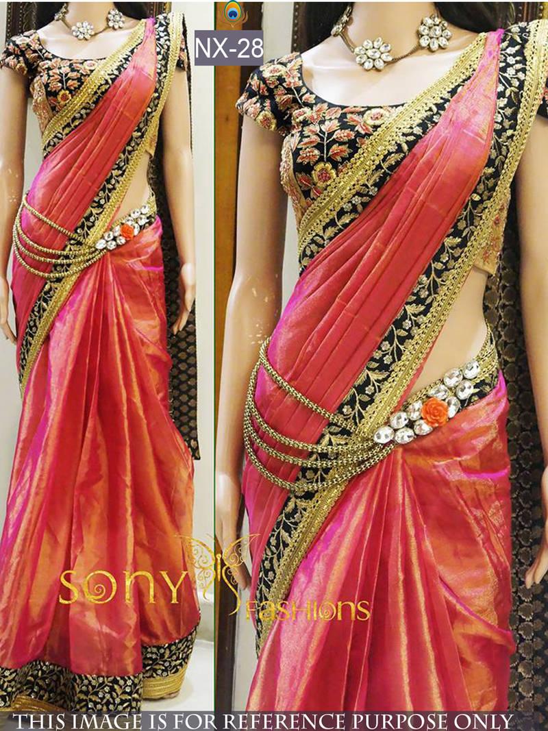 06dcc03151d05e Multicolor embroidered paper cotton saree with blouse - Shree Sai ...
