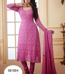 Buy Light Pink Designer Anarkali Suit anarkali-salwar-kameez online