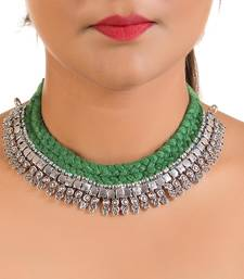 Buy Pretty fashion thread neckpiece collar-necklace online
