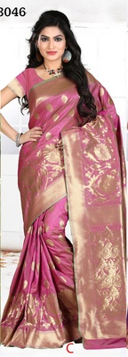 Multi color designer Georgette silk saree
