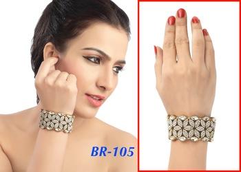 Exclusive Fancy Floral Kundan Austrian Stone Work Design Bracelet