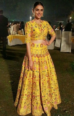 e5a04be394 yellow printed art silk unstitched ghagra-choli - Today Bazar - 1653383