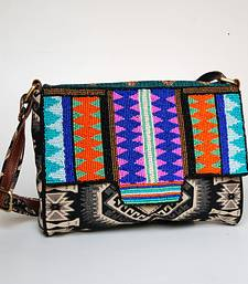 Buy Geometric Beaded Sling sling-bag online