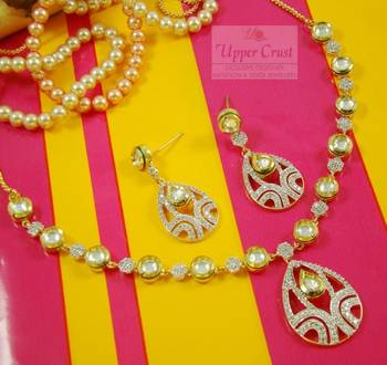 Kundan Zircone Necklace Earring Set