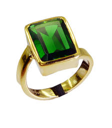 Buy comely Emerald Copper Green Ring gemstonesin Ring online