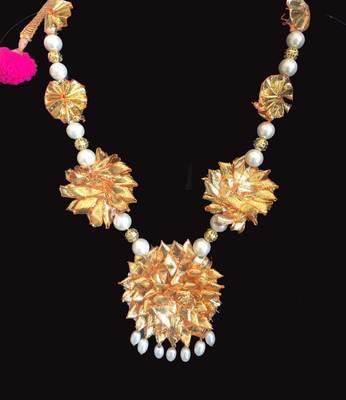 Pearl Embellished Gota Raani Haar