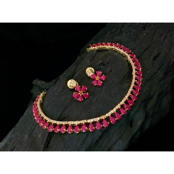 Pink Agate gold_plated necklace-sets