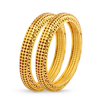 Indian Tradition Design Gold Plated Bangle