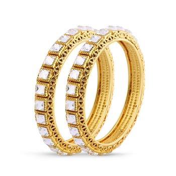 Indian Attractive Gold Finishing Kundan Bangle