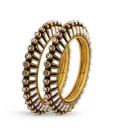 Buy White Kundan Tradigion Meenakari Gold Plated Bangle bangles-and-bracelet online