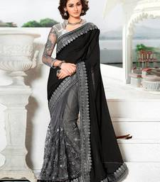 buy multicolor embroidered georgette saree with blouse bridal saree online