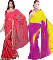 Buy Buy Kota Doria Saree n Get Another Doria Saree Free cotton-saree online