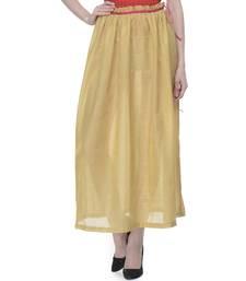 Women's Designer Golden Gathered Skirt