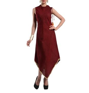 Women's Designer Bias Cut Dress In Mangalgiri