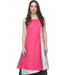 Buy Women's Designer Pink & White Tunic tunic online