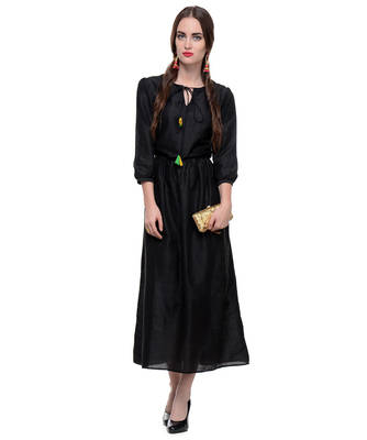 Women's Designer Black Maxy