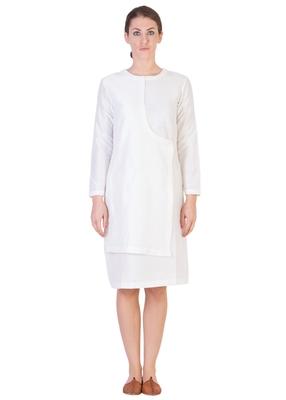 Women's Designer White Dress As An Angrakha Variant
