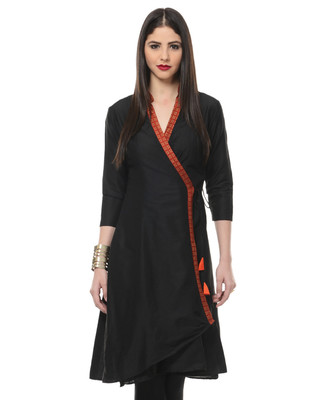 Women's Designer Black Angrakha Tunic