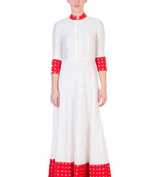 Buy Women's Designer Floor Length Dress With Red Details dress online