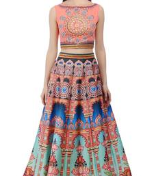 Buy Lehenga Choli By Voovilla (multicolo) indian-dress online
