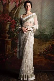 a0da3285514566 White Sarees – Buy White Color Saree Designs for Women in India