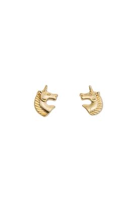 The golden zebra ear studs