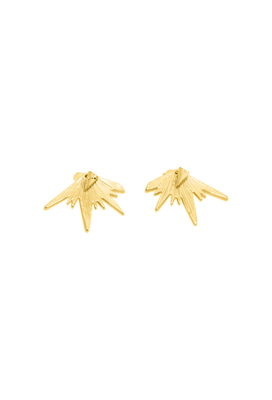 The zig-zag gold ear rings