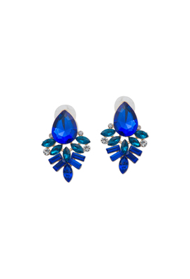 Blue Drop Crystal Earrings