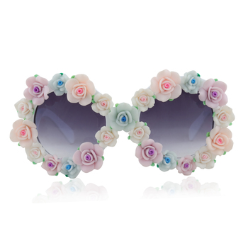 Beach look full floral frame with ombre glasses