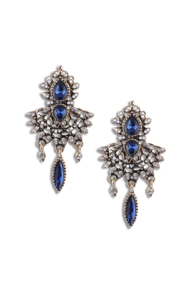 BLUE CRYSTAL danglers-dropsS