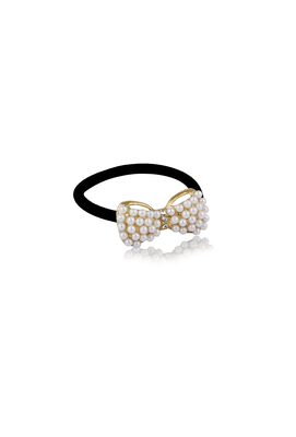 GOLDEN PEARL BOW HAIR BAND