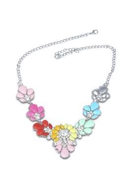 CHIC COLOR CRYSTAL STATEMENT NECKLACE