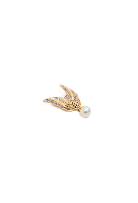 PEARL WITH GOLDEN WINGS BROOCH