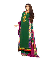Buy Hypnotex Green Crepe Dress Material Bold77B dress-material online