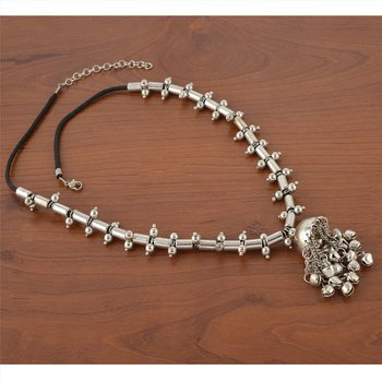 German Silver Ghungroo Necklace