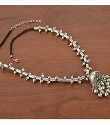 Buy German Silver Ghungroo Necklace Necklace online