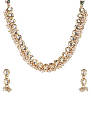 Teardrop Pearl Necklace Set