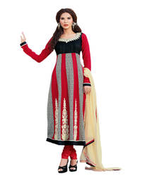 Buy Hypnotex Maroon Cotton Dress Material Kajol13002 dress-material online