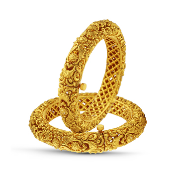 Antique Gold Finish Traditional Bangle