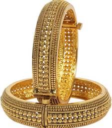 Buy Gold pearl bangles-and-bracelets black-friday-deal-sale online