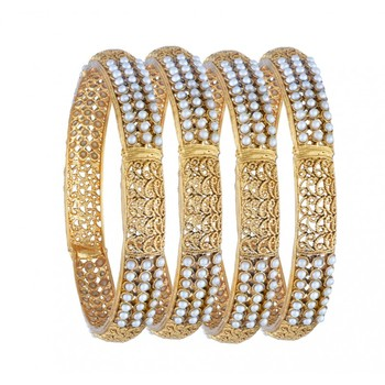 Multicolor pearl bangles-and-bracelets