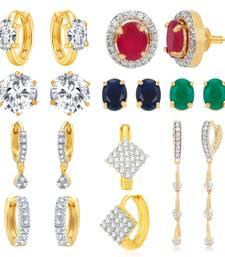 Buy Multicolor cubic zirconia earrings Earring online