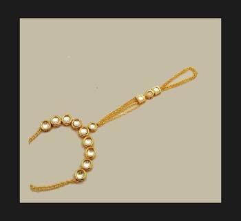Kundan And Gold Chains Hathphool