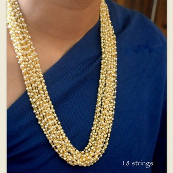 Pearl Beaded Multistrand Necklace