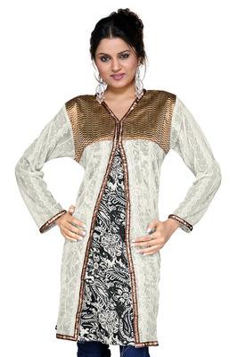 Designer Girls Fancy Zari Indian Cotton Kurti -123