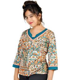 Jaipuri Designer Fancy Cream Fine Cotton Kurti 152