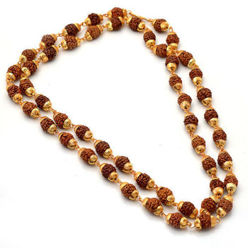 Gold plated rudraksh mala
