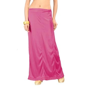 Pink plain satin petticoat