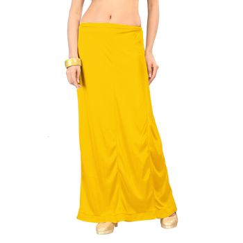 Ziya Yellow Pure Satin Petticoat